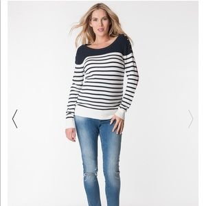 Seraphine Maternity/Nursing Nautical Sweater